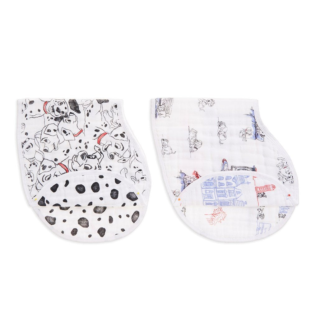 Buy the aden + anais Disney 101 Dalmatians Burpy Bibs 2-Pack by ADEN + ANAIS from Me and Buddy