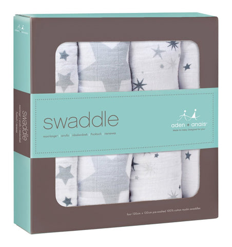 Buy the aden + anais Twinkle Classic Swaddles 4-Pack by ADEN + ANAIS from Me and Buddy