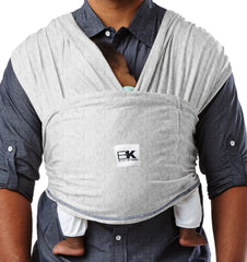 Buy the Baby K'Tan Classic Baby Carrier in Heather Grey by BABY K'TAN from Me and Buddy