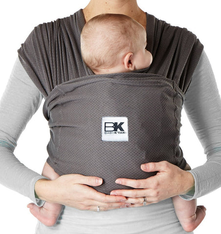 Buy the Baby K'Tan Mesh Breeze Baby Carrier in Charcoal Grey by BABY K'TAN from Me and Buddy
