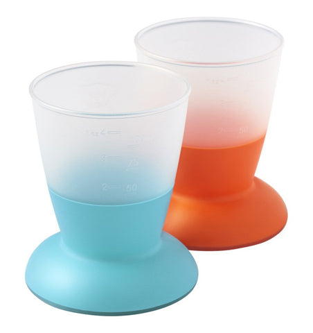 Buy the BabyBjorn Baby Cups in Turquoise and Orange by BABYBJORN from Me and Buddy
