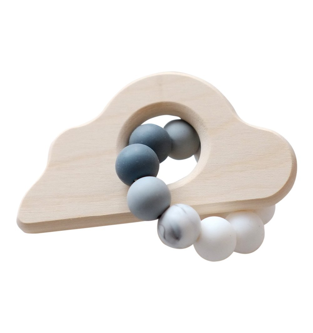 Buy the Blossom & Bear Cloud Rattle Teether Toy by BLOSSOM & BEAR from Me and Buddy