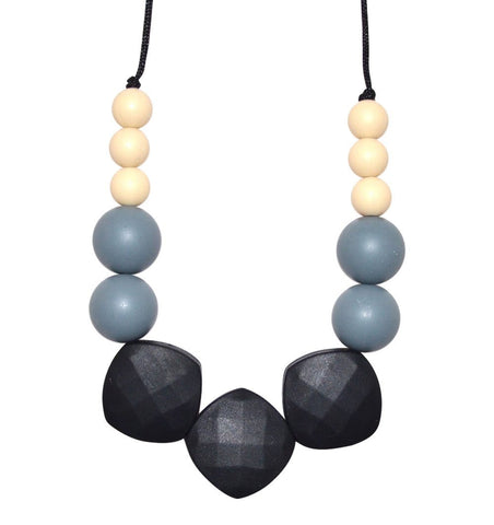 Buy the Emily Teething Necklace in Black, Grey and White by BO&BEL from Me and Buddy