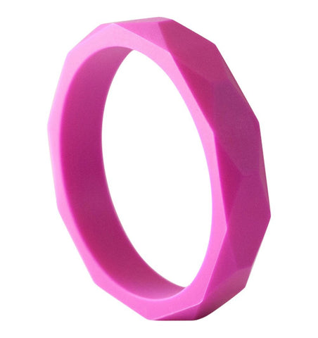 Buy the Teething Bangle in Fuchsia by BO&BEL from Me and Buddy