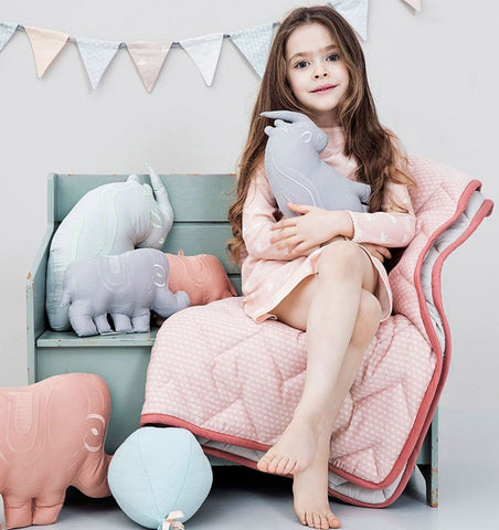Buy the Cam Cam Baby Blanket in Sashiko Blush by CAM CAM COPENHAGEN from Me and Buddy
