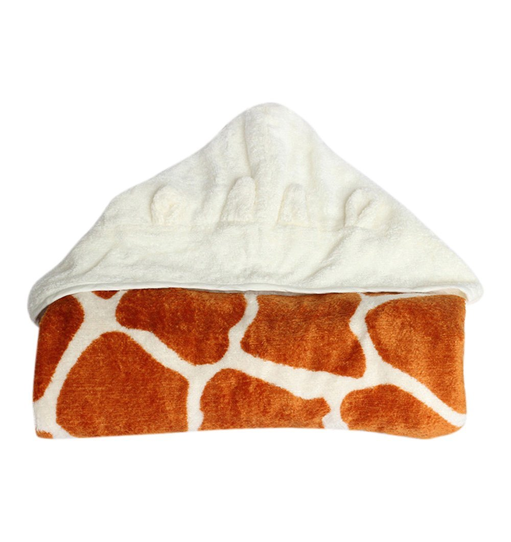 Buy the Cuddledry Hooded Animal Toddler Towel in Giraffe Design by CUDDLEDRY from Me and Buddy