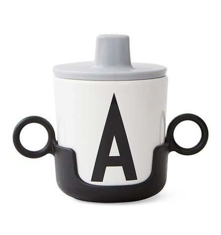 Buy the Design Letters Cup Handle in Black by DESIGN LETTERS from Me and Buddy