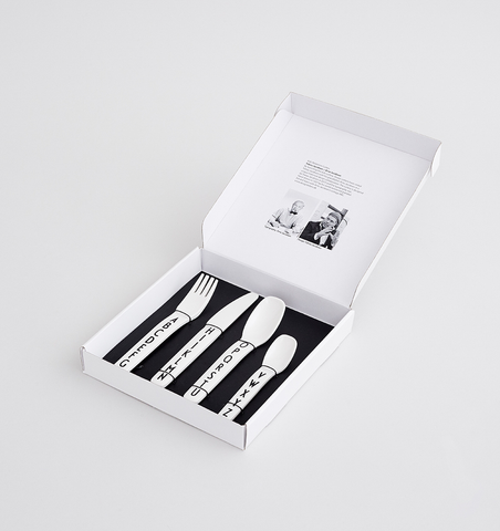 Buy the Design Letters Kids Melamine Cutlery Set by DESIGN LETTERS from Me and Buddy