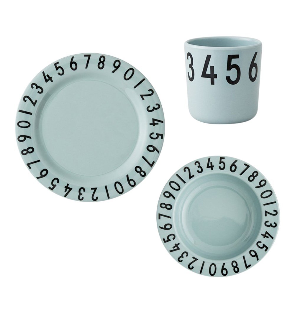 Buy the Design Letters Melamine Gift Set in Soft Green by DESIGN LETTERS from Me and Buddy