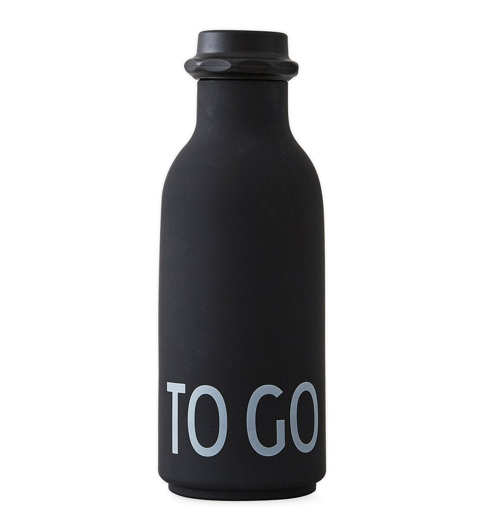 Buy the Design Letters TO GO Water Bottle in Black by DESIGN LETTERS from Me and Buddy