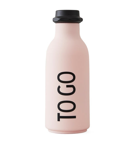 Buy the Design Letters TO GO Water Bottle in Pink by DESIGN LETTERS from Me and Buddy