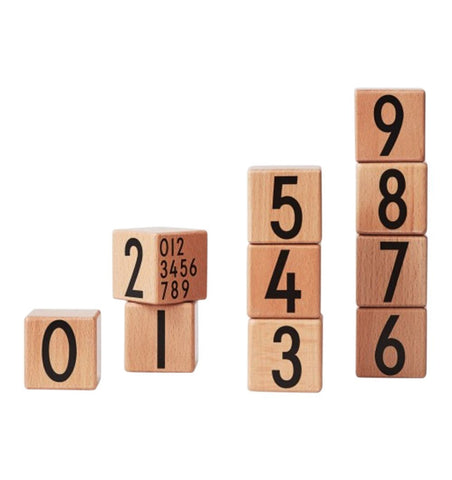 Buy the Design Letters 0-9 Wooden Number Cubes by DESIGN LETTERS from Me and Buddy