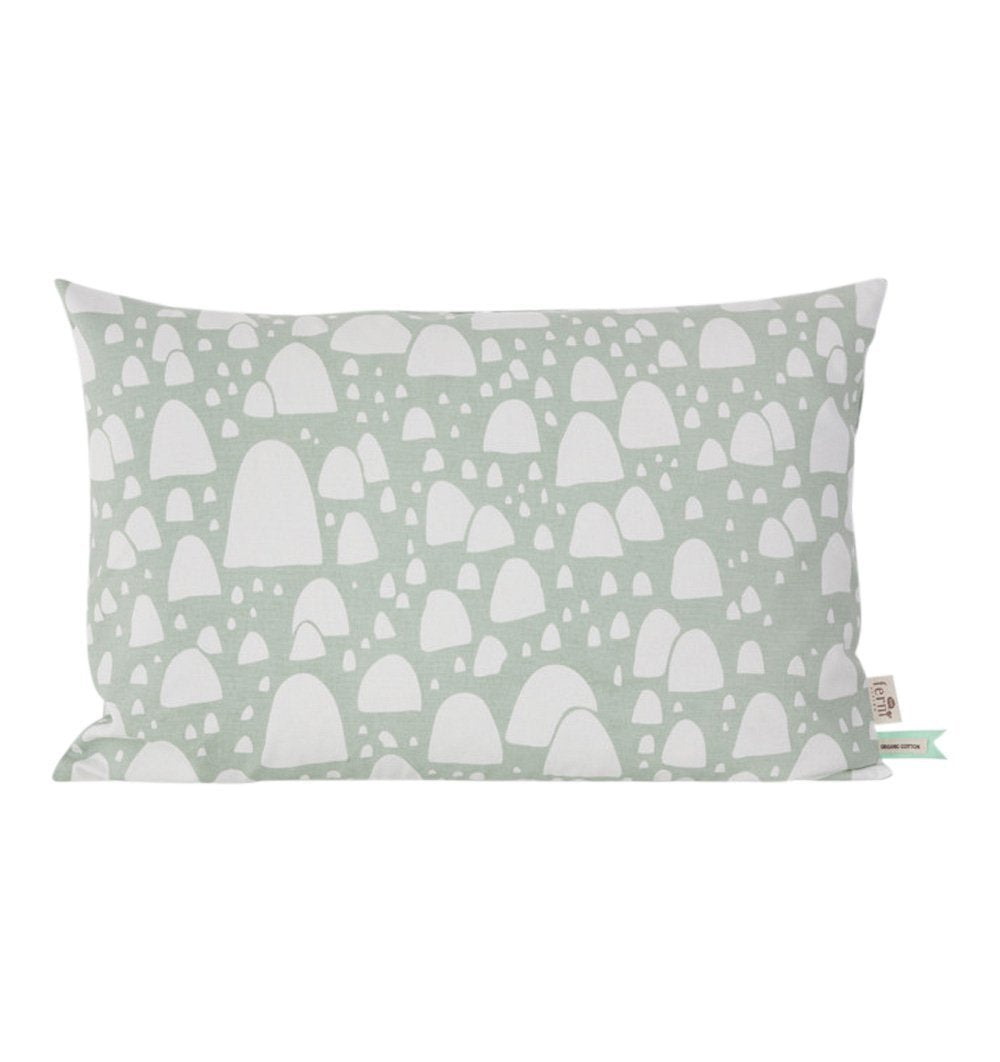 Buy the Mountain Tops Cushion in Mint by FERM LIVING from Me and Buddy