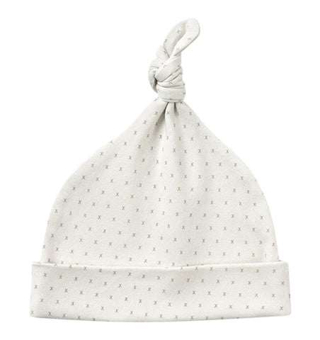 Buy the Little Kisses Knot Hat in French Grey by FROM BABIES WITH LOVE from Me and Buddy