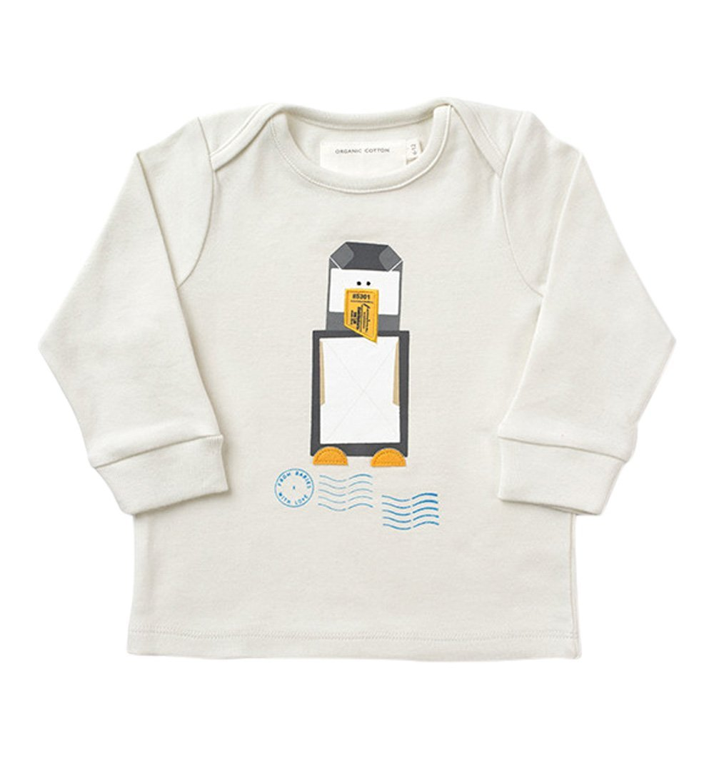 Buy the Penguin Top in French Grey by FROM BABIES WITH LOVE from Me and Buddy