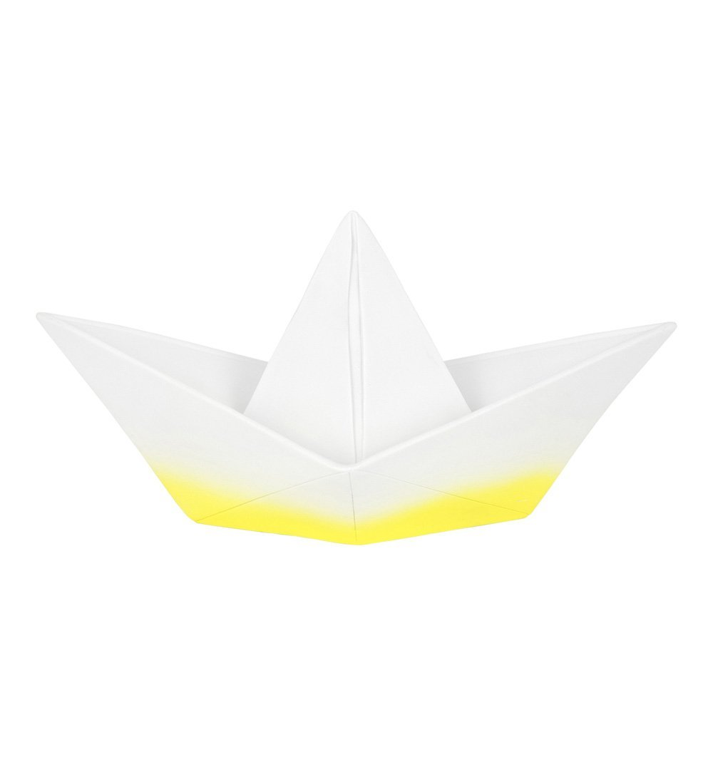 Buy the Origami Boat Lamp in Dipped Yellow by GOODNIGHT LIGHT from Me and Buddy