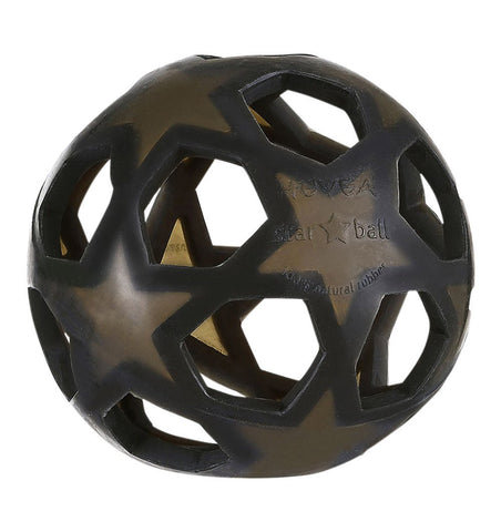 Buy the Natural Rubber Star Ball in Dark Grey by HEVEA from Me and Buddy
