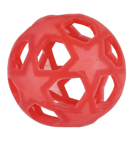 Buy the Natural Rubber Star Ball in Raspberry by HEVEA from Me and Buddy