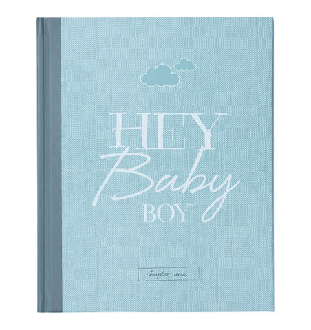 "Buy the ""Hey Baby Boy"" Baby Journal by ILLUSTRIES from Me and Buddy"