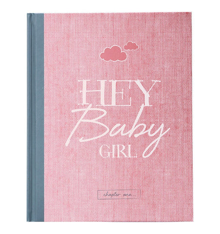 "Buy the ""Hey Baby Girl"" Baby Journal by ILLUSTRIES from Me and Buddy"