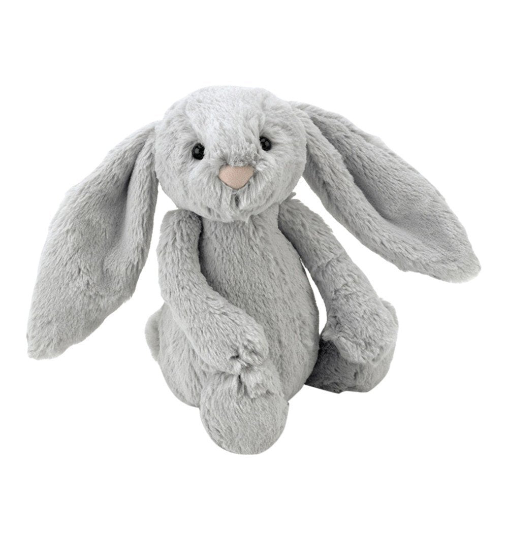 Buy the Jellycat Small Silver Bashful Bunny by JELLYCAT from Me and Buddy