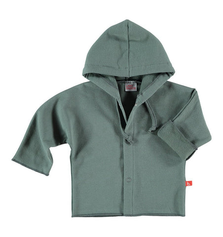 Buy the Baby Jacket with Hood in Dark Grey by LIMOBASICS from Me and Buddy