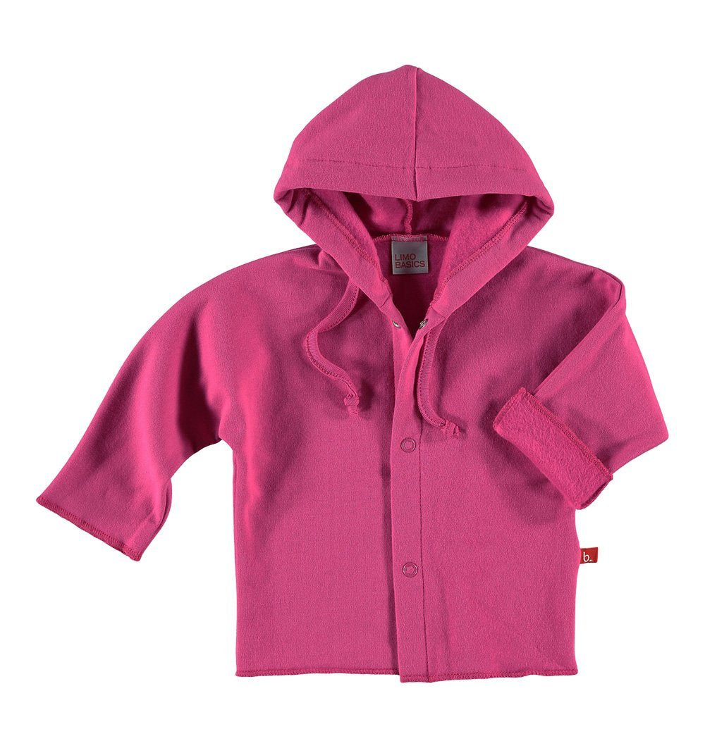 Buy the Baby Jacket with Hood in Deep Pink by LIMOBASICS from Me and Buddy