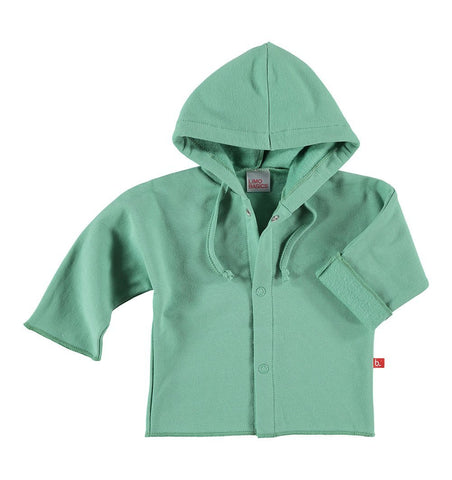 Buy the Baby Jacket with Hood in Moss Green by LIMOBASICS from Me and Buddy