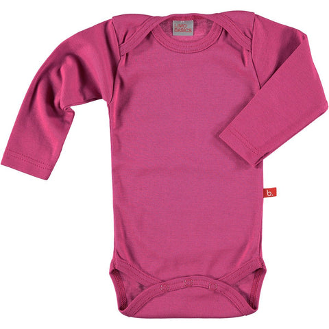 Buy the Long Sleeved Bodysuit in Deep Pink by LIMOBASICS from Me and Buddy