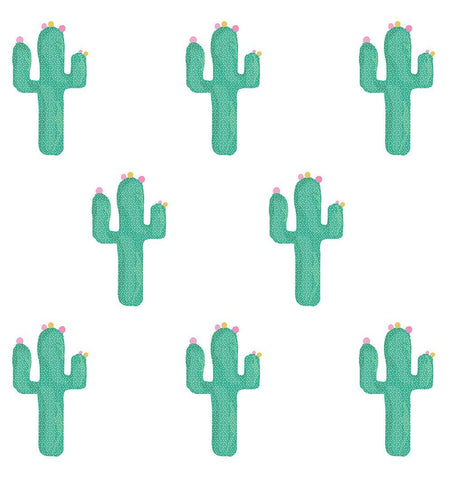 Buy the Cactus Fabric Wall Sticker Set by LOVE MAE from Me and Buddy