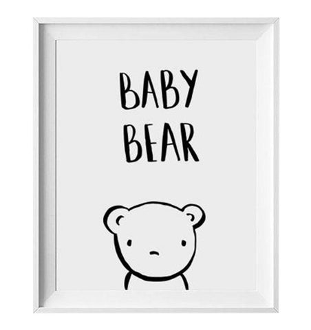 Buy the Baby Bear Print by LOVELY INK from Me and Buddy