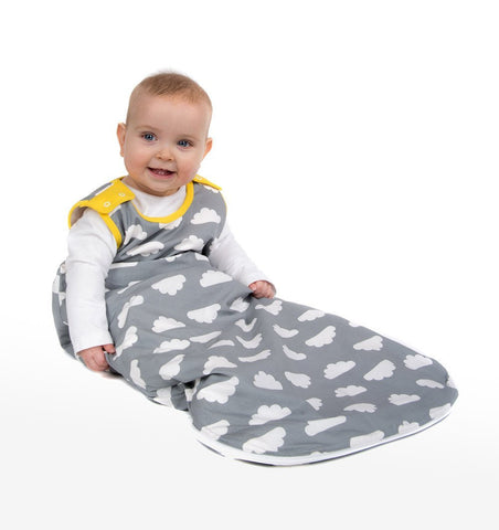 Buy the Babasac in Grey Cloud with Yellow Trim by MAMA DESIGNS from Me and Buddy