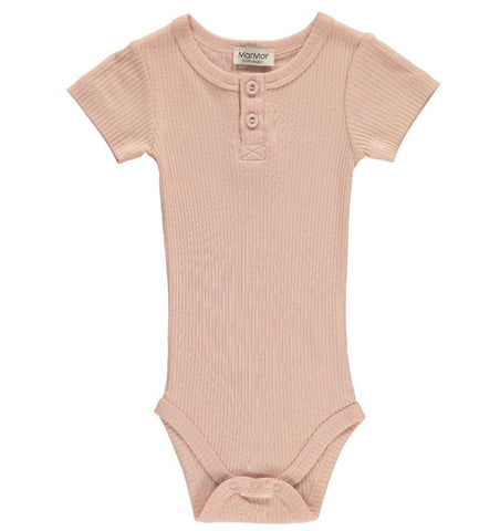 Buy the Short Sleeve Modal Bodysuit in Rose by MARMAR COPENHAGEN from Me and Buddy