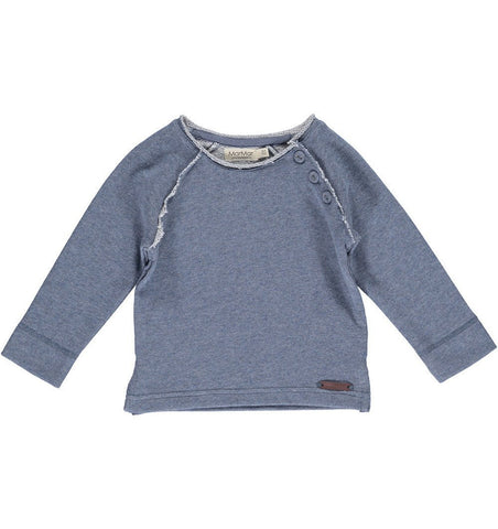 Buy the Sweatshirt in Blue Melange by MARMAR COPENHAGEN from Me and Buddy