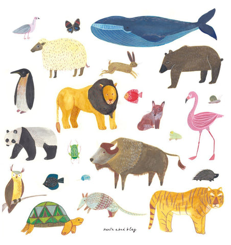 Buy the Animals Print by MARTA ABAD BLAY from Me and Buddy