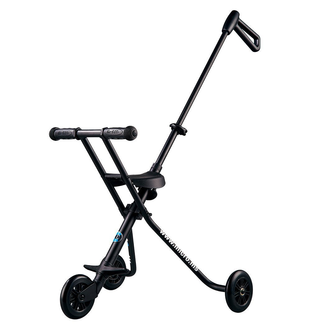 Buy the Micro Scooters Folding Toddler Trike in Black by MICRO SCOOTERS from Me and Buddy