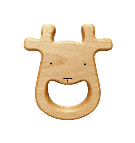 Buy the Organic Wooden Deer Teether by MIELASIELA from Me and Buddy