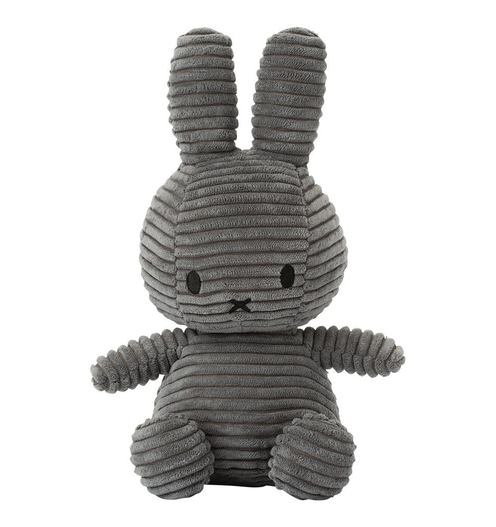 Buy the Miffy Corduroy Soft Toy in Grey by MIFFY x BON TON from Me and Buddy