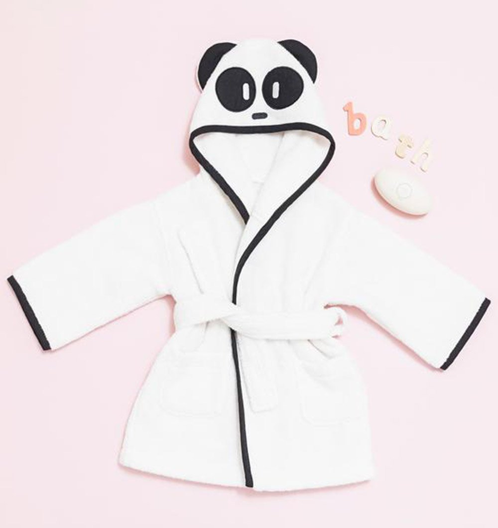 Buy the Mori Panda Hooded Toddler Bathrobe by MORI from Me and Buddy