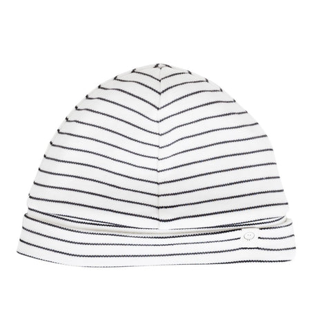 Buy the Mori Baby Hat in Grey Stripe by MORI from Me and Buddy