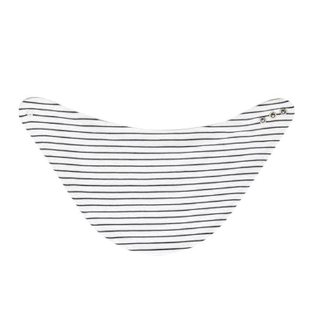 Buy the Mori Milk Bib in Grey Stripe by MORI from Me and Buddy