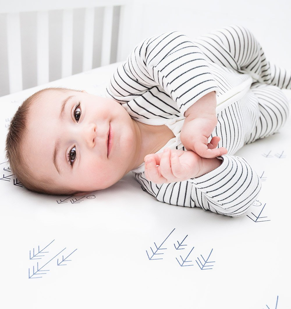 Buy the Mori Zip-Up Sleepsuit in Grey Stripe by MORI from Me and Buddy
