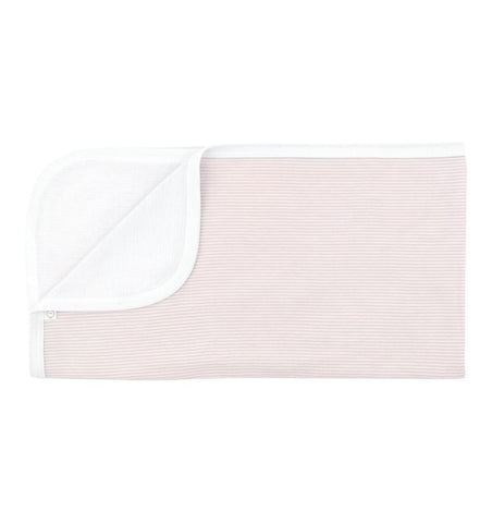 Buy the Mori Baby Blanket in Blush Stripe by MORI from Me and Buddy