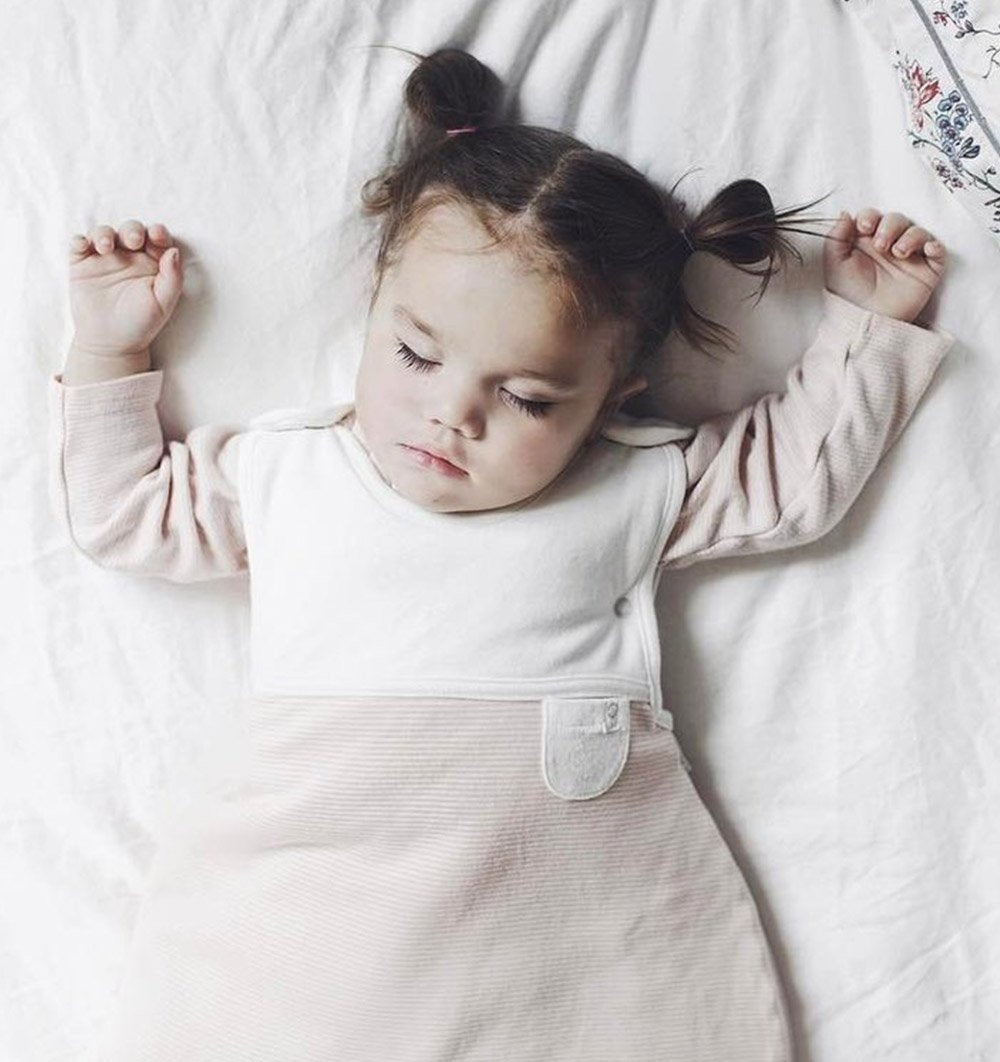 Buy the Mori Clever Sleeping Bag in Blush Stripe by MORI from Me and Buddy