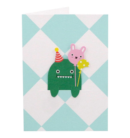 Buy the Noodoll Dino Celebration Bookmark Card by NOODOLL from Me and Buddy