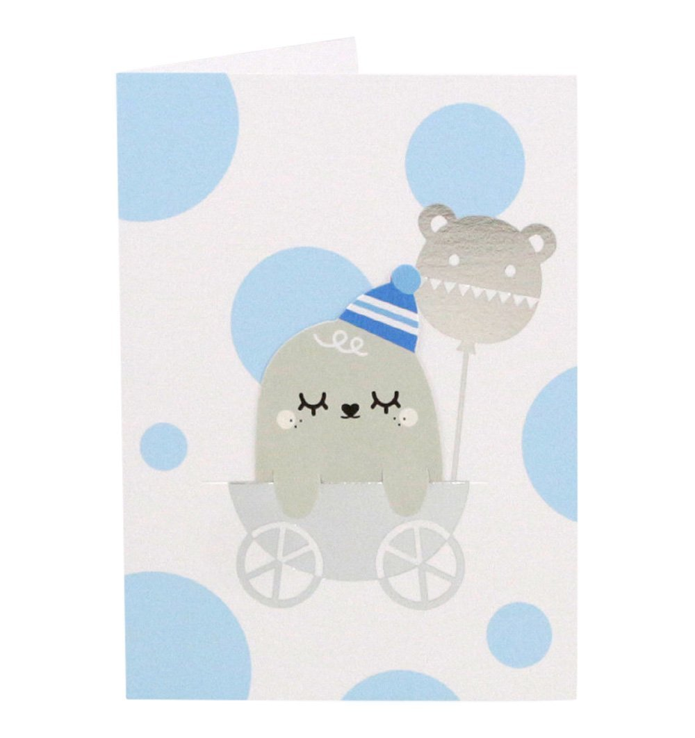 Buy the Noodoll New Baby Blue Bookmark Card by NOODOLL from Me and Buddy