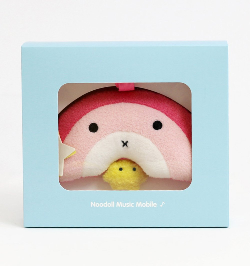Buy the Noodoll Ricebow Pink Rainbow Soft Musical Mobile by NOODOLL from Me and Buddy