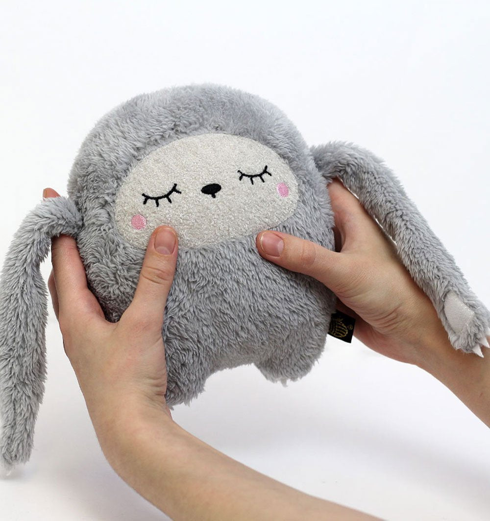 Buy the Noodoll Riceless Grey Sloth Soft Toy by NOODOLL from Me and Buddy