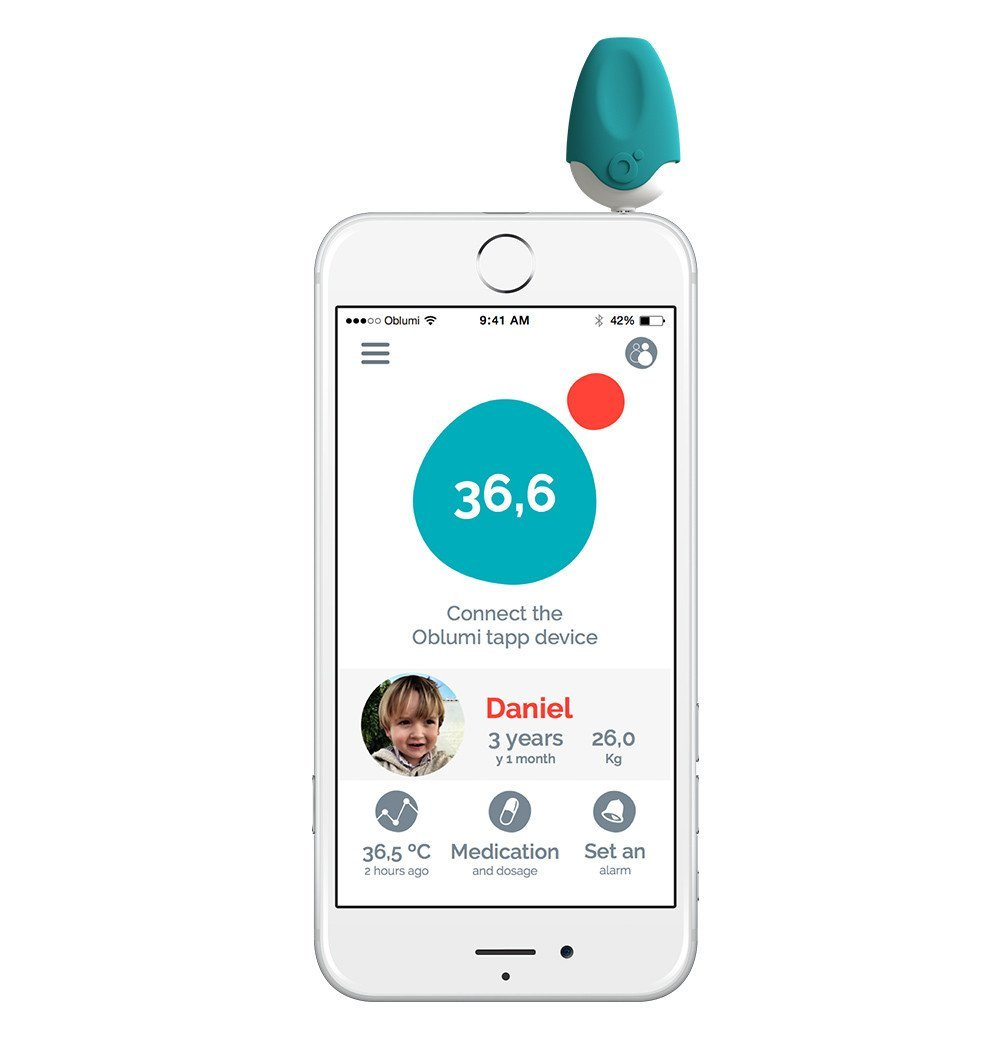 Buy the Oblumi Tapp Smart Thermometer by OBLUMI from Me and Buddy