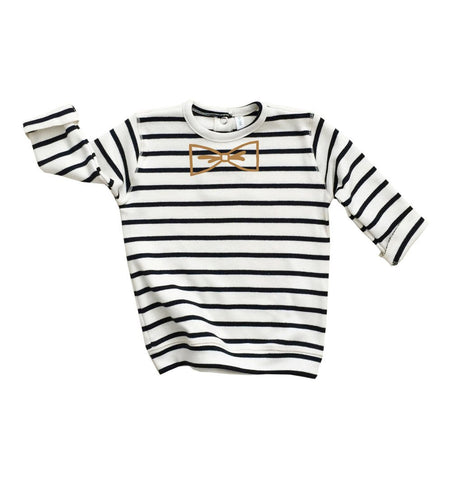 Buy the Breton Stripe Bow Sweatshirt by ORGANIC ZOO from Me and Buddy